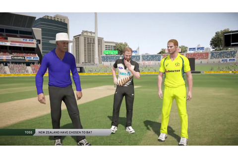 Don Bradman Cricket 17 - My First Game! Aus vs NZ - YouTube