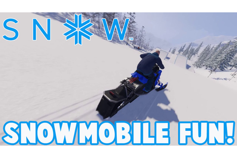 SNOW The Game - SNOWMOBILE FUN - Snow Early Access ...