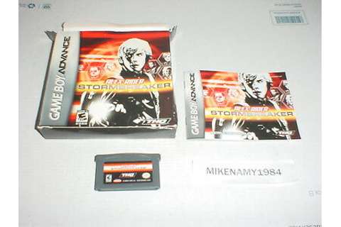 ALEX RIDER : STORMBREAKER game complete for GAME BOY ...