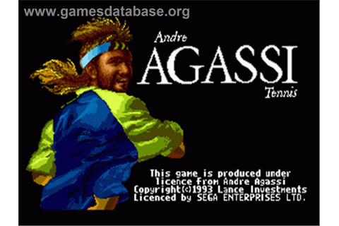 Andre Agassi Tennis - Sega Nomad - Games Database