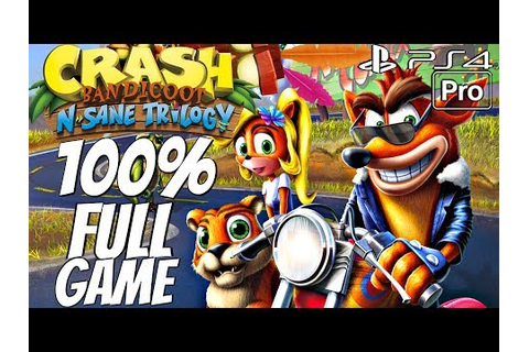 Crash Bandicoot 3 Warped (PS4) - Gameplay Walkthrough 100% ...