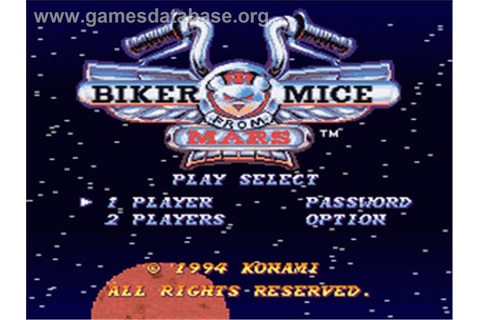 Biker Mice From Mars - Nintendo SNES - Games Database