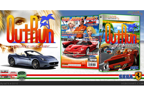 Outrun Online Arcade Xbox 360 Box Art Cover by tat76