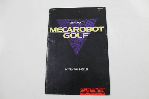 Manual - Mecarobot Golf SNES
