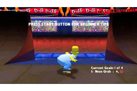 The Simpsons Skateboarding Playstation 2 gameplay - YouTube