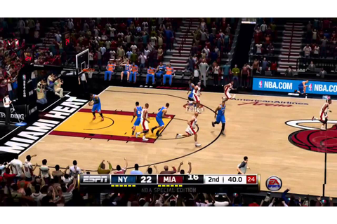 NBA LIVE 14: KNICKS-HEAT FULL GAME - YouTube