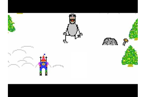 Retro Games (HD) -- Ski Free----EATEN BY THE GREMLIN ...