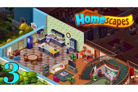 HomeScapes Gameplay Story Kitchen Day 3 / Кухня День 3 ...