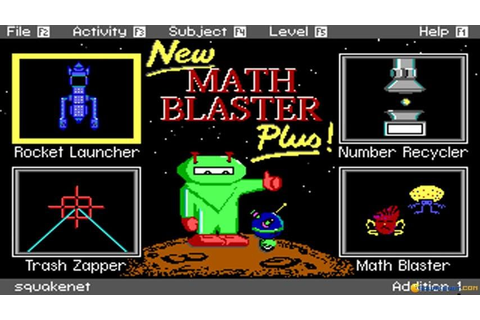 Math Blaster Plus! gameplay (PC Game, 1987) - YouTube