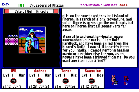 Tunnels & Trolls: Crusaders of Khazan (1990) MS-DOS game