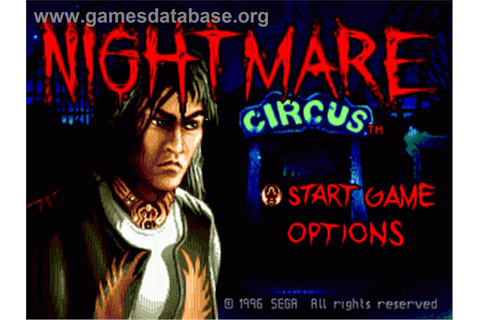 Nightmare Circus - Sega Genesis - Games Database
