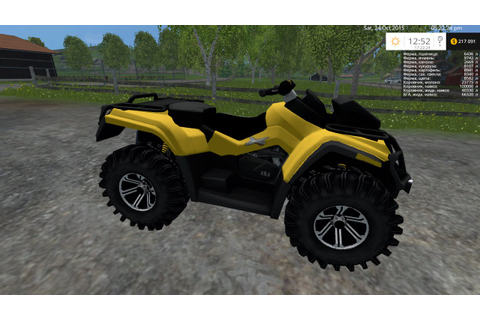 Farming Simulator 2015 Mod CAN AM ATV(v 1.0) - YouTube