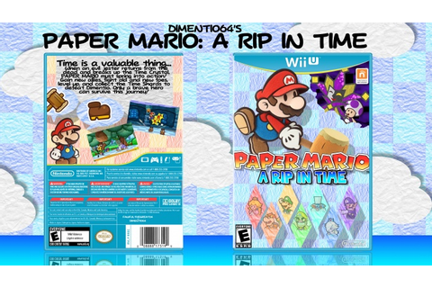 Paper Mario: A Rip in Time Wii U Box Art Cover by dimentio64