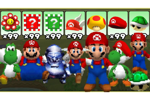 Super Mario 64 DS - All Power-Ups - YouTube