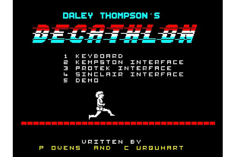 Daley Thompson's Decathlon (ZX Spectrum) | g | Pinterest ...