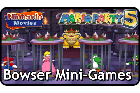 Mario Party 5 - All Bowser Mini-Games - YouTube