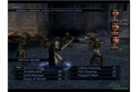 Lord of the Rings: The Third Age (PS2 version) screenshot ...