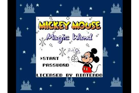 Mickey Mouse Magic Wands Title Screen Music Modifier Boss ...