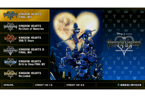 Kingdom Hearts HD 1.5 + 2.5 Remix title screen is a time ...