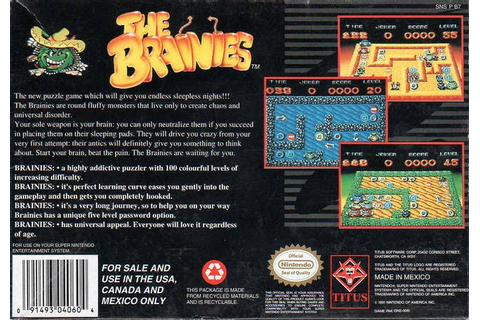 Nerdicus SNES Review #40: The Brainies ~ Life of a Gamer Nerd