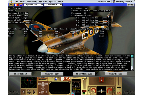 Achtung Spitfire Screenshots for Macintosh - MobyGames