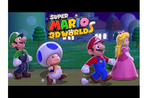 Super Mario 3D World - Full Game Co-op Walkthrough (All ...