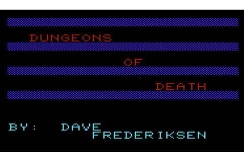 The CRPG Addict: Game 207: Dungeons of Death (1983)