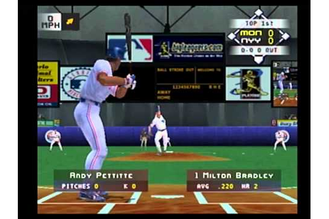 high heat baseball 2002 ps2 yankees at expos - YouTube