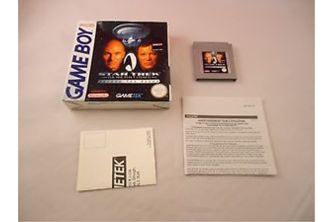 Star Trek: Generations Beyond the Nexus Nintendo Game Boy ...