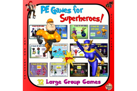"PE Games for Super Heroes!- ""12 Large Group Games"" by Cap ..."