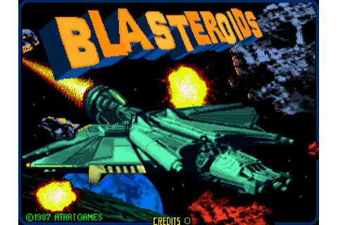 Blasteroids arcade video game by Atari Games Corp. (1987)