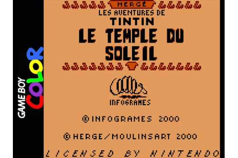 Tintin: Le Temple du Soleil (Game Boy) - Area 1-2 Music ...