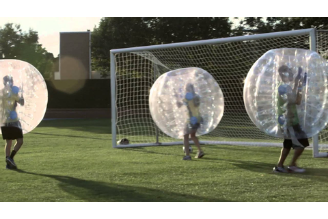 Zorb Ball Soccer Fun at BYU - YouTube