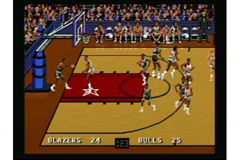 Bulls Vs Blazers And The NBA Playoffs (Sega Genesis) Game ...