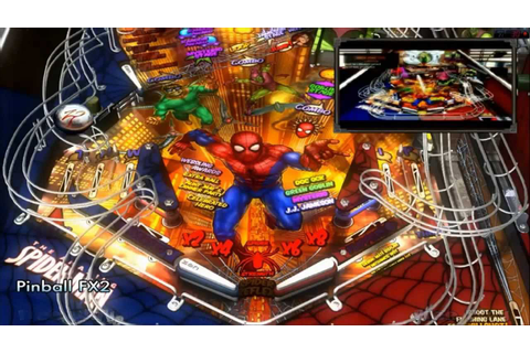 Hyperspin - Pinball FX2 - Marvel table Spiderman - YouTube