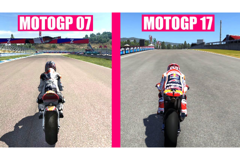 MotoGP 17 vs MotoGP 2007 Graphics Evolution Comparison ...