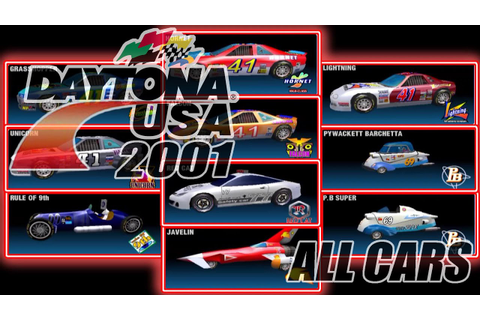 Daytona USA 2001 (Sega Dreamcast) - All Cars (in 60fps ...