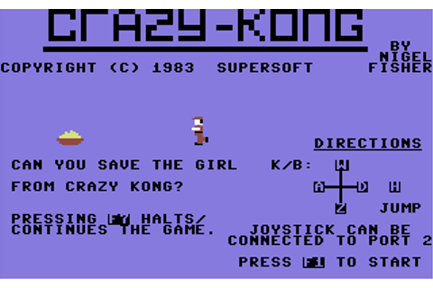 Download Crazy Kong (Commodore 64) - My Abandonware