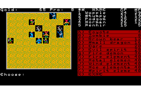 Download Demon's Winter rpg for DOS (1989) - Abandonware DOS