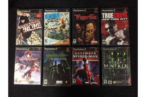 PS2 VIDEO GAME LOT (AGGRESSIVE INLINE, SSX ON TOUR ...