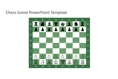 Free Chess Game PowerPoint Template