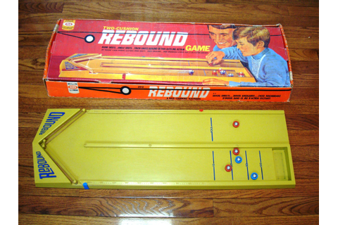 Vintage IDEAL Two-Cushion REBOUND Game with Original Box ...