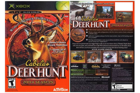 Cabela's Deer Hunt: 2004 Season (Xbox) Hunt 9 different ...