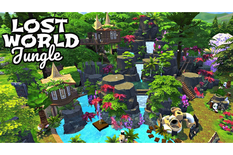 The Sims 4 | LOST WORLD JUNGLE w/ Simarchy | Speed Build ...