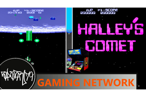 Halley's Comet arcade game (Earth level completed) - YouTube