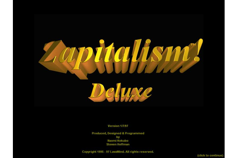 Zapitalism Deluxe Download (1997 Simulation Game)
