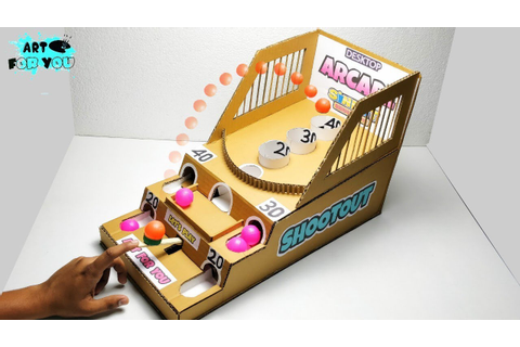 How to make Shootout Arcade Board Game from Cardboard ...