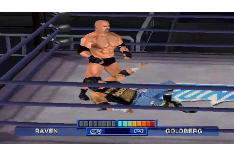 WCW Mayhem PS1 720P HD Playthrough - GOLDBERG VS RAVEN ...