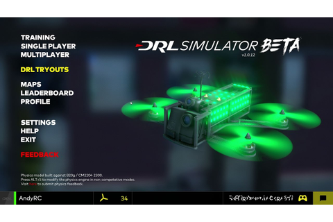 DRL Free FPV Simulator - YouTube