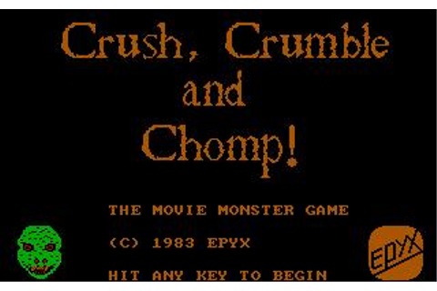 Crush, Crumble & Chomp! Download (1983 Strategy Game)